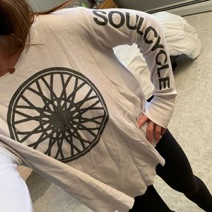 SoulCycle Waffle Scoop Neck Long Sleeved